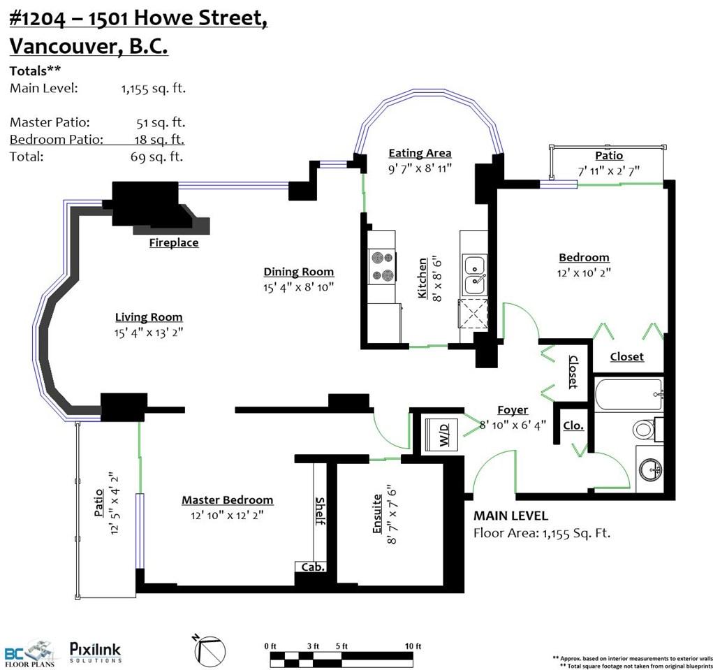 Condo Apartment at 1204 1501 HOWE STREET, Unit 1204, Vancouver West, British Columbia. Image 20