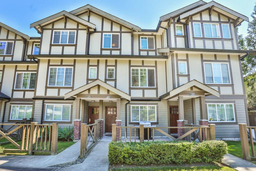 Townhouse at 102 3333 DEWDNEY TRUNK ROAD, Unit 102, Port Moody, British Columbia. Image 1