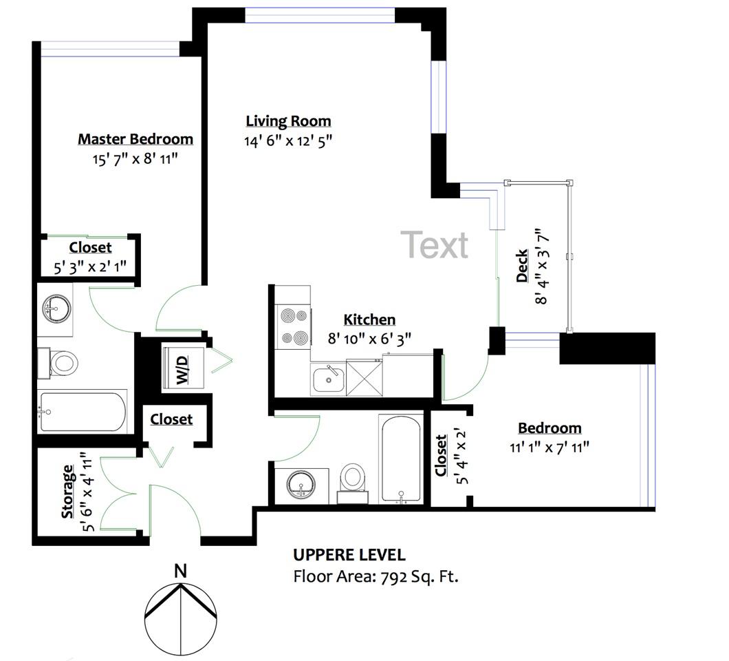 Condo Apartment at 1610 10777 UNIVERSITY DRIVE, Unit 1610, North Surrey, British Columbia. Image 10