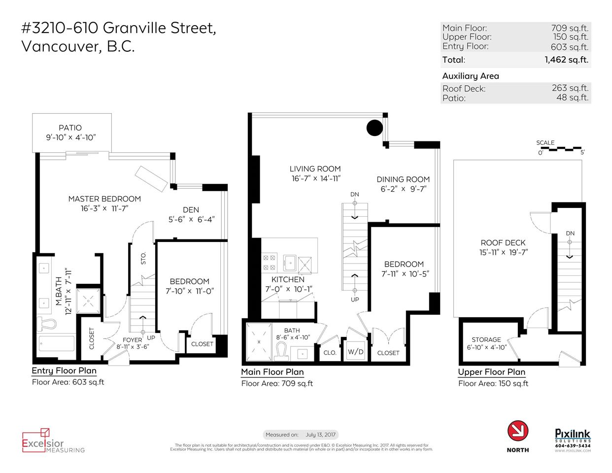Condo Apartment at 3210 610 GRANVILLE STREET, Unit 3210, Vancouver West, British Columbia. Image 19