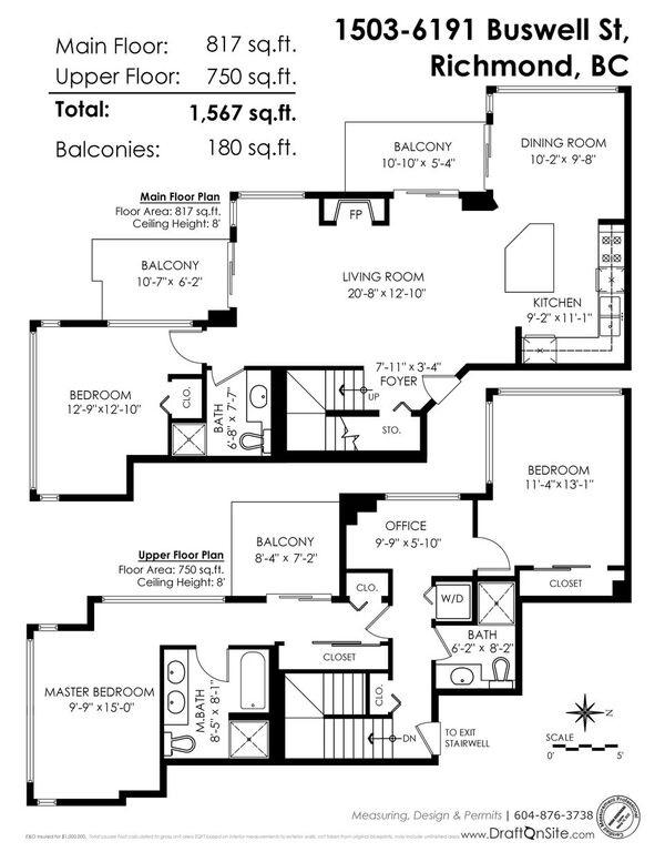 Condo Apartment at 1503 6191 BUSWELL STREET, Unit 1503, Richmond, British Columbia. Image 19
