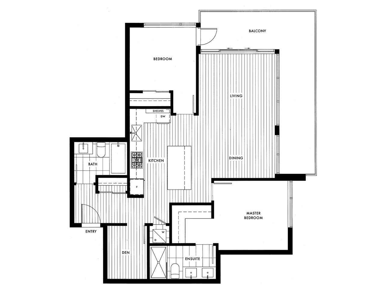 Condo Apartment at 210 4427 CAMBIE STREET, Unit 210, Vancouver West, British Columbia. Image 3