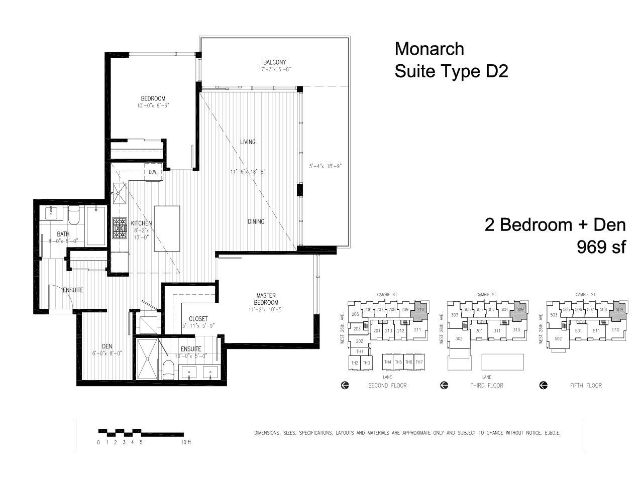 Condo Apartment at 210 4427 CAMBIE STREET, Unit 210, Vancouver West, British Columbia. Image 4