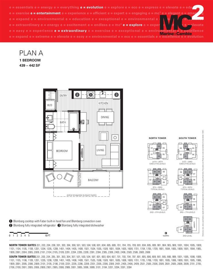 Condo Apartment at 1001 8131 NUNAVUT LANE, Unit 1001, Vancouver West, British Columbia. Image 2