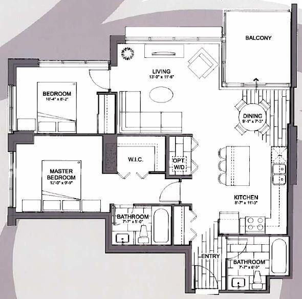 Condo Apartment at 3803 13325 102A AVENUE, Unit 3803, North Surrey, British Columbia. Image 3