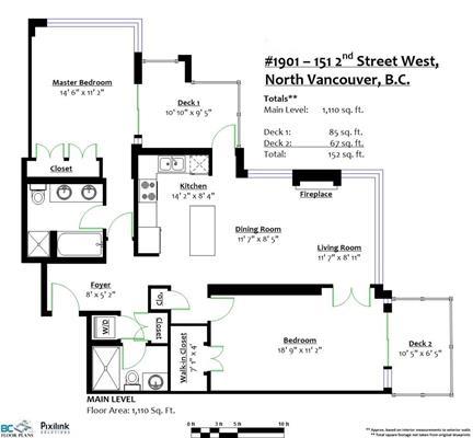 Condo Apartment at 1901 151 W 2ND STREET, Unit 1901, North Vancouver, British Columbia. Image 20
