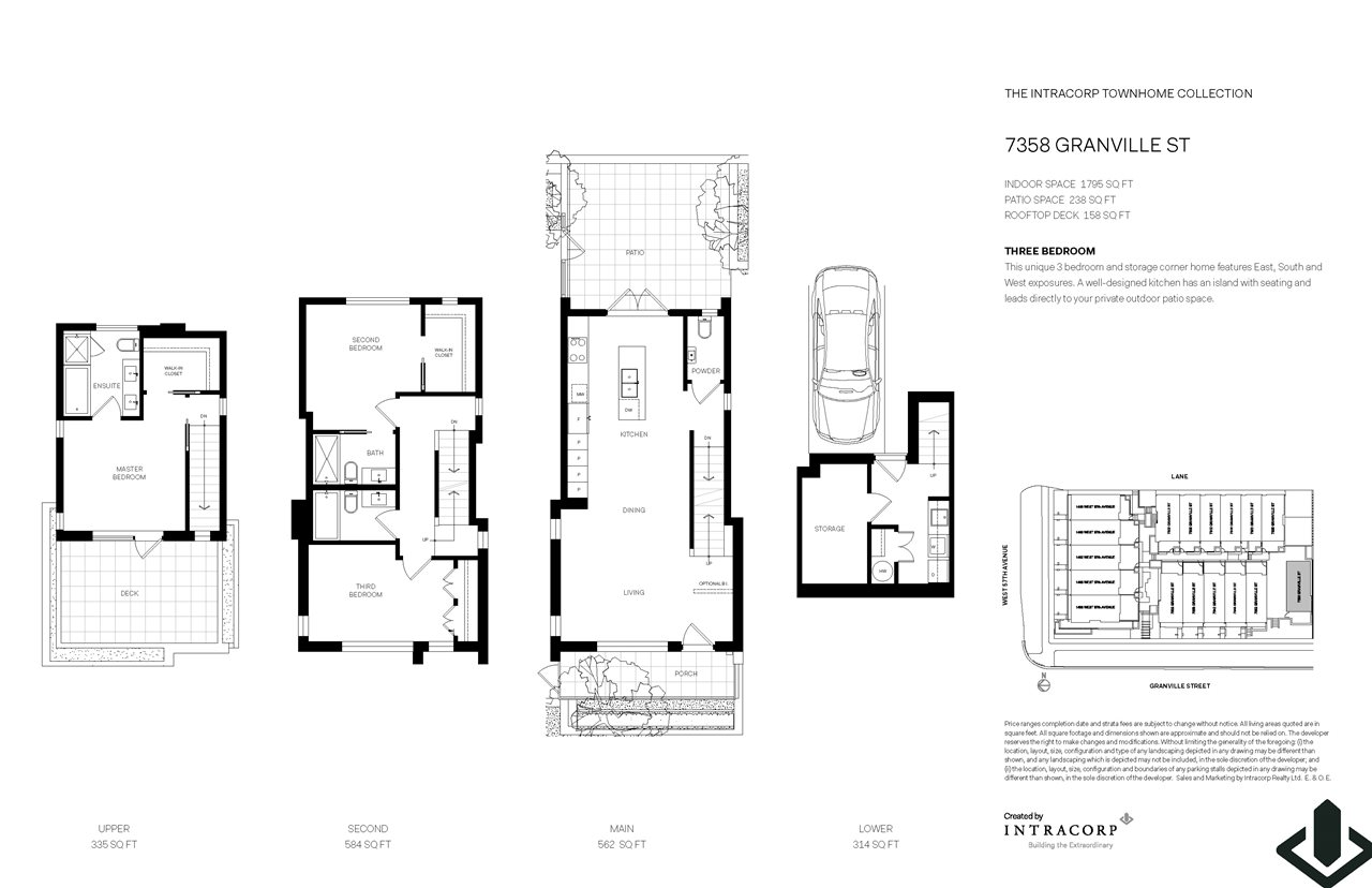 Townhouse at 7358 GRANVILLE STREET, Vancouver West, British Columbia. Image 3