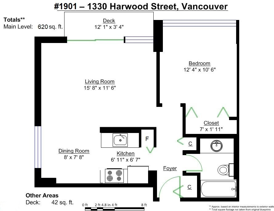 Condo Apartment at 1901 1330 HARWOOD STREET, Unit 1901, Vancouver West, British Columbia. Image 20