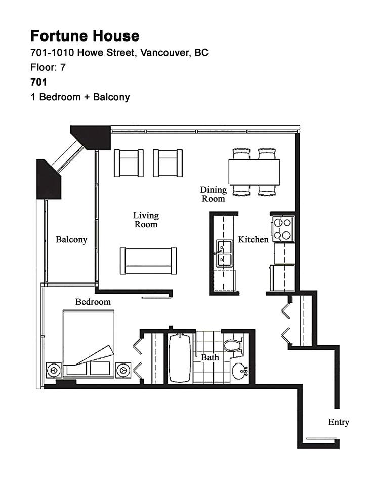 Condo Apartment at 701 1010 HOWE STREET, Unit 701, Vancouver West, British Columbia. Image 20