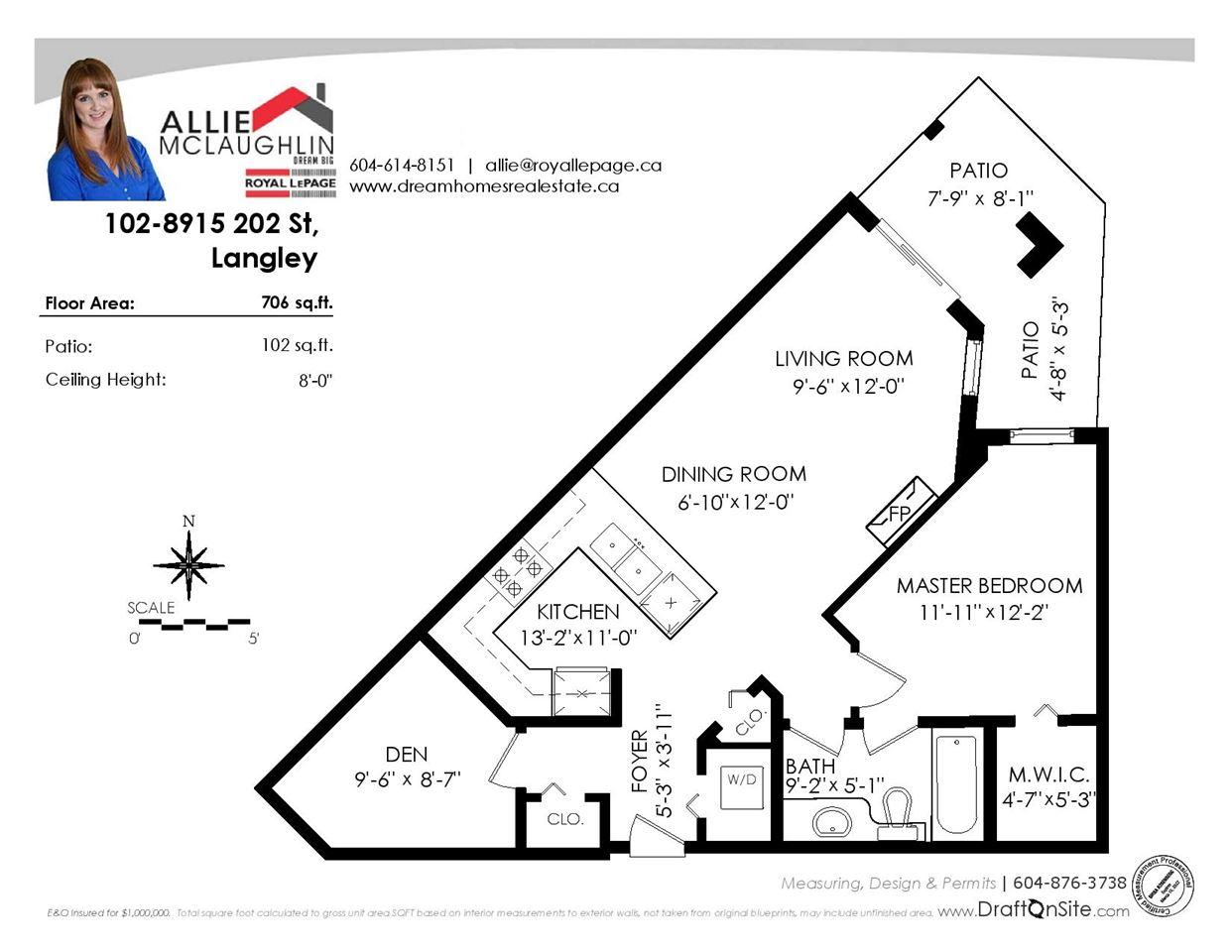 Condo Apartment at 102 8915 202 STREET, Unit 102, Langley, British Columbia. Image 3
