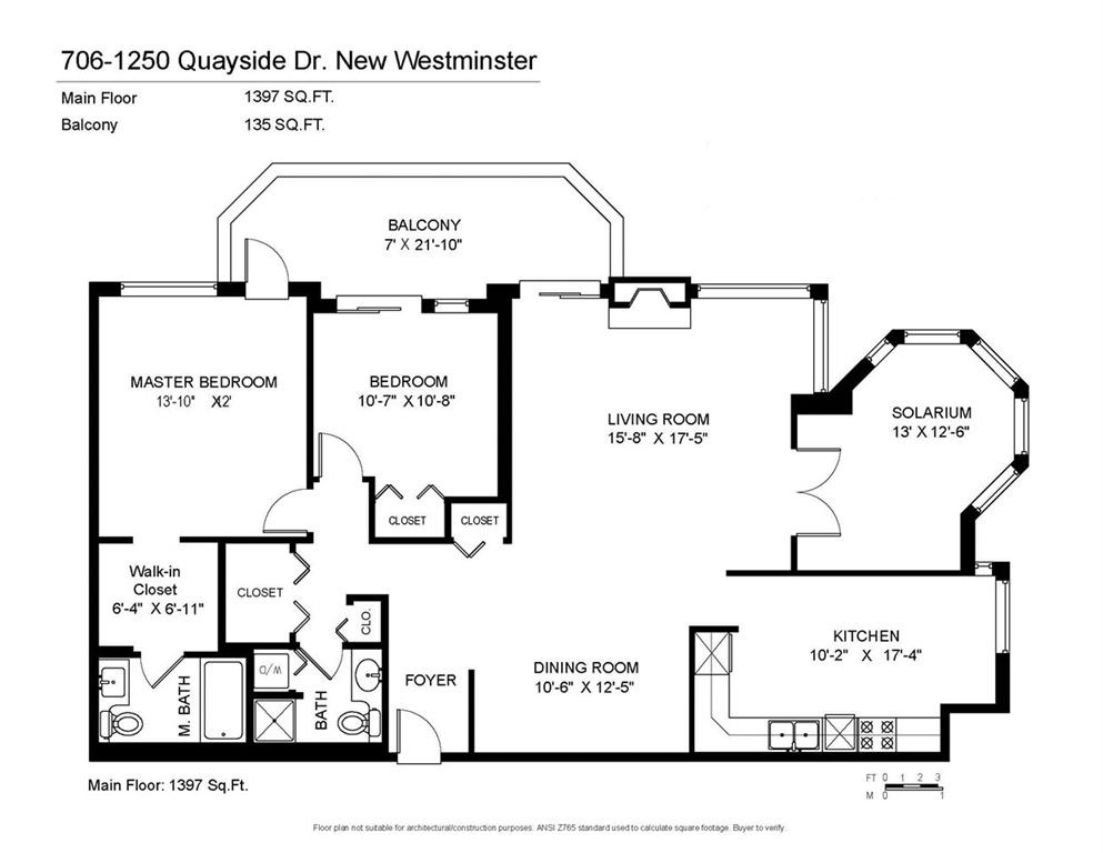 Condo Apartment at 706 1250 QUAYSIDE DRIVE, Unit 706, New Westminster, British Columbia. Image 20