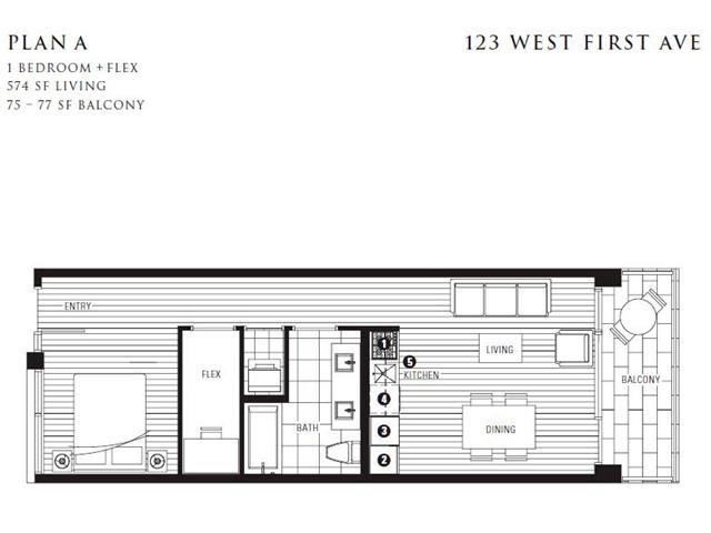 Condo Apartment at 305 123 W 1ST AVENUE, Unit 305, Vancouver West, British Columbia. Image 12