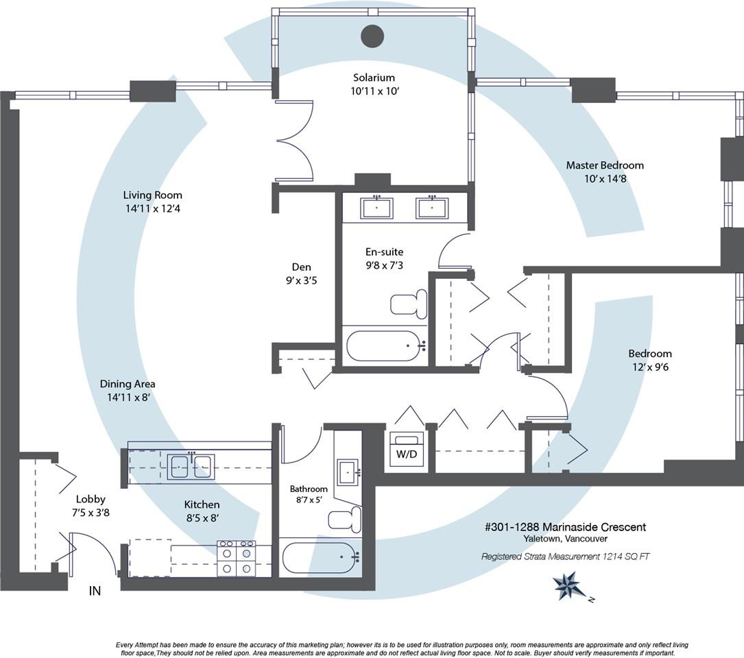 Condo Apartment at 301 1288 MARINASIDE CRESCENT, Unit 301, Vancouver West, British Columbia. Image 20