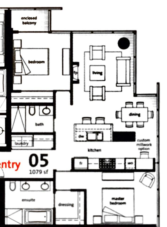 Condo Apartment at 2305 1111 ALBERNI STREET, Unit 2305, Vancouver West, British Columbia. Image 11