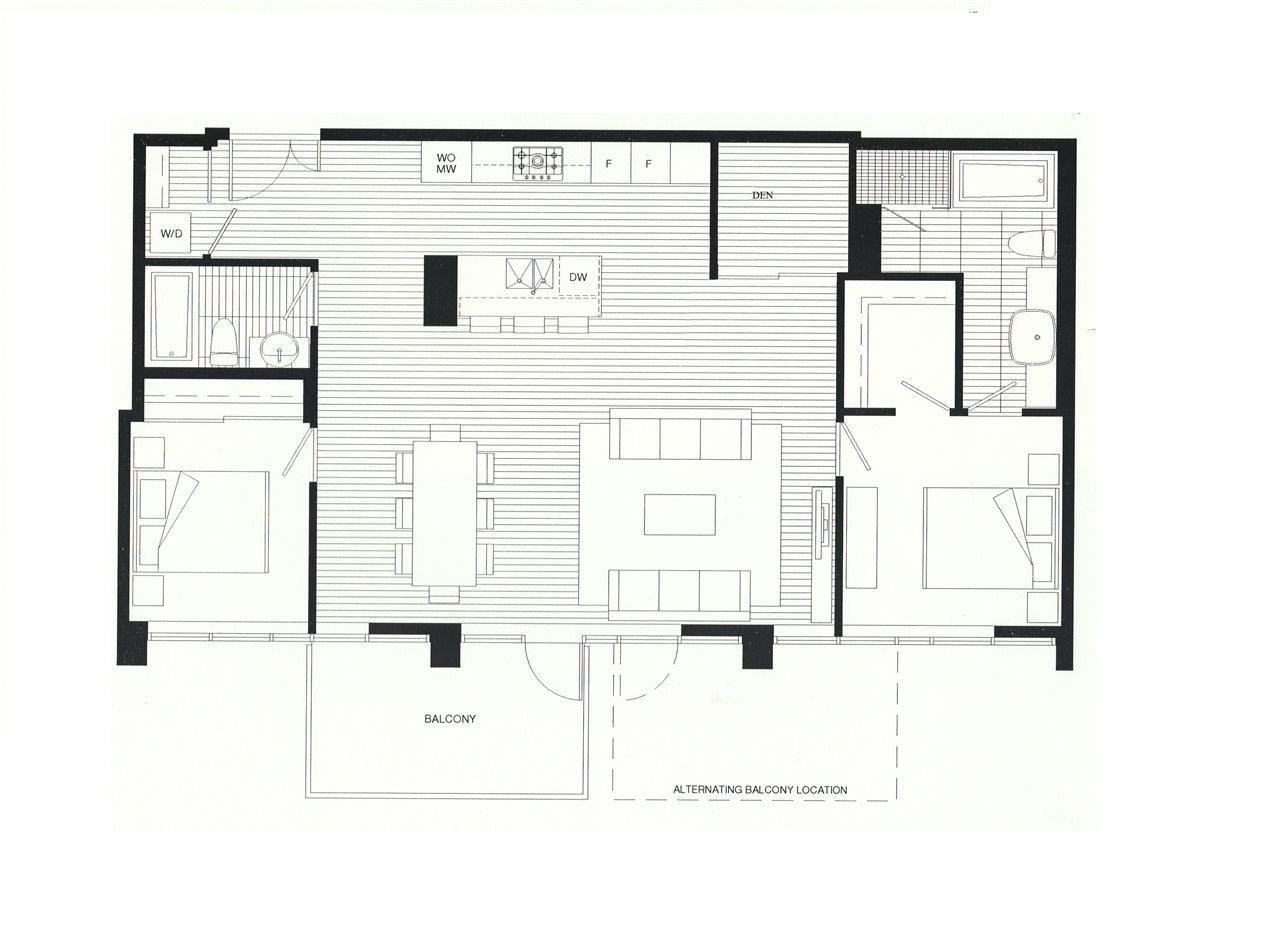 Condo Apartment at 701 5782 BERTON AVENUE, Unit 701, Vancouver West, British Columbia. Image 1