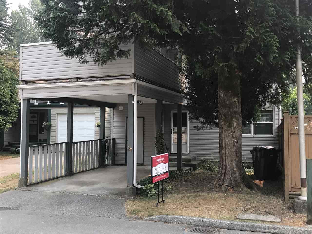Townhouse at 27 2986 COAST MERIDIAN ROAD, Unit 27, Port Coquitlam, British Columbia. Image 2