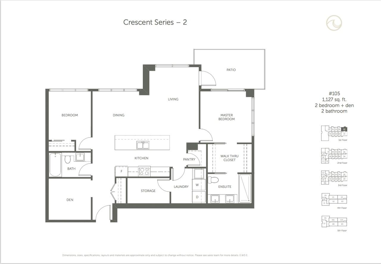 Condo Apartment at 105 14022 NORTH BLUFF ROAD, Unit 105, South Surrey White Rock, British Columbia. Image 10
