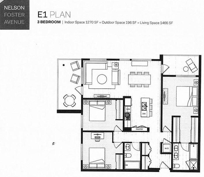 Condo Apartment at 405 516 FOSTER AVENUE, Unit 405, Coquitlam, British Columbia. Image 2