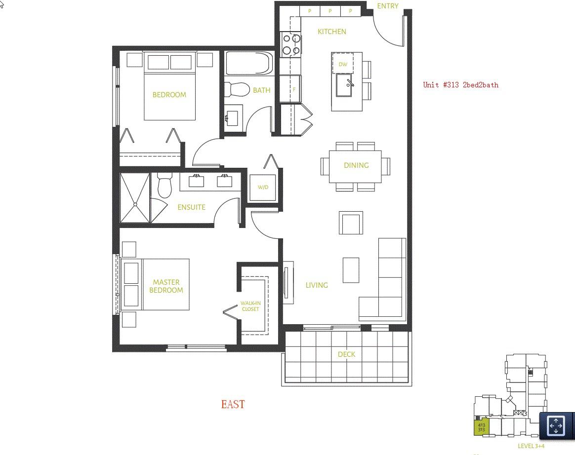 Condo Apartment at 313 10603 140 STREET, Unit 313, North Surrey, British Columbia. Image 2