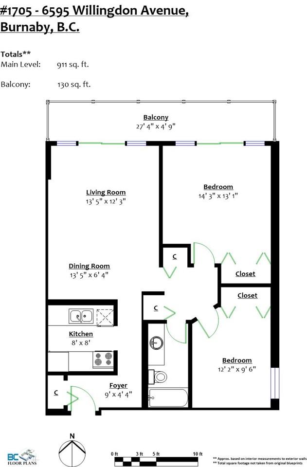 Condo Apartment at 1705 6595 WILLINGDON AVENUE, Unit 1705, Burnaby South, British Columbia. Image 2