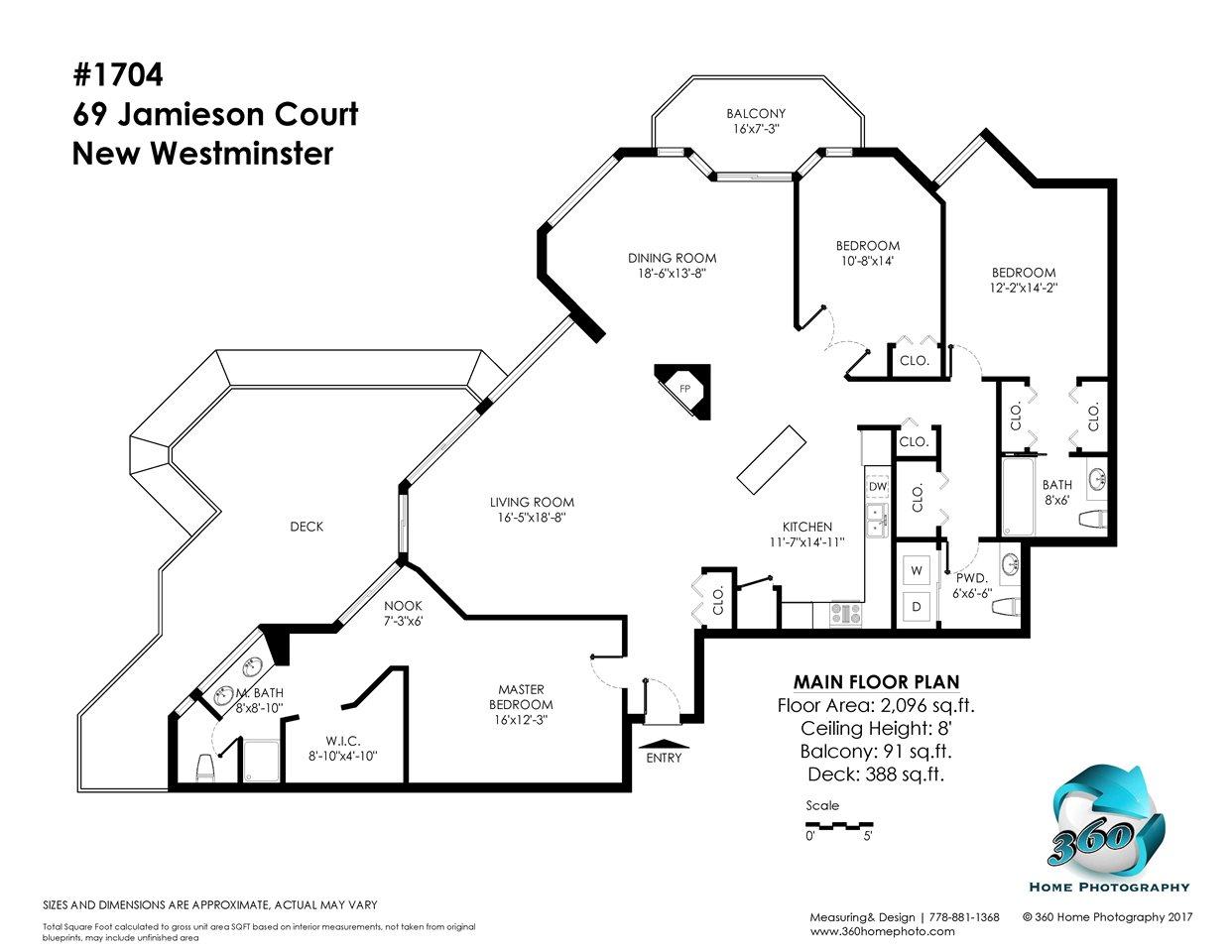 Condo Apartment at 1704 69 JAMIESON COURT, Unit 1704, New Westminster, British Columbia. Image 20