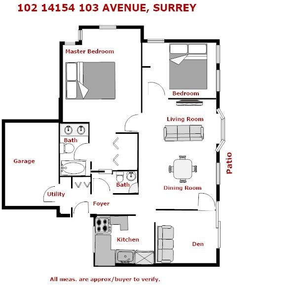 Townhouse at 102 14154 103 AVENUE, Unit 102, North Surrey, British Columbia. Image 1