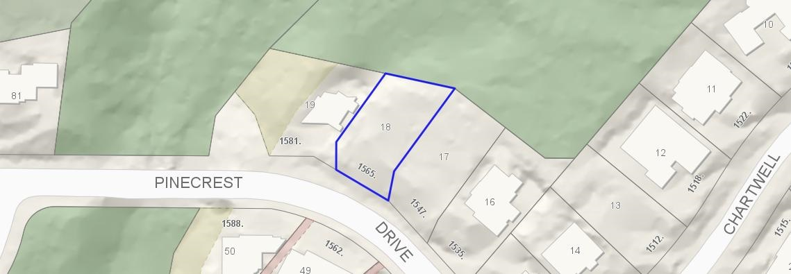 Vacant Land at 1565 PINECREST DRIVE, West Vancouver, British Columbia. Image 1