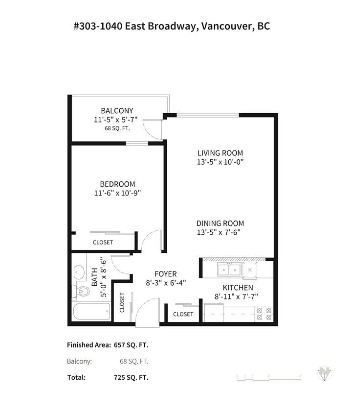 Condo Apartment at 303 1040 E BROADWAY, Unit 303, Vancouver East, British Columbia. Image 12