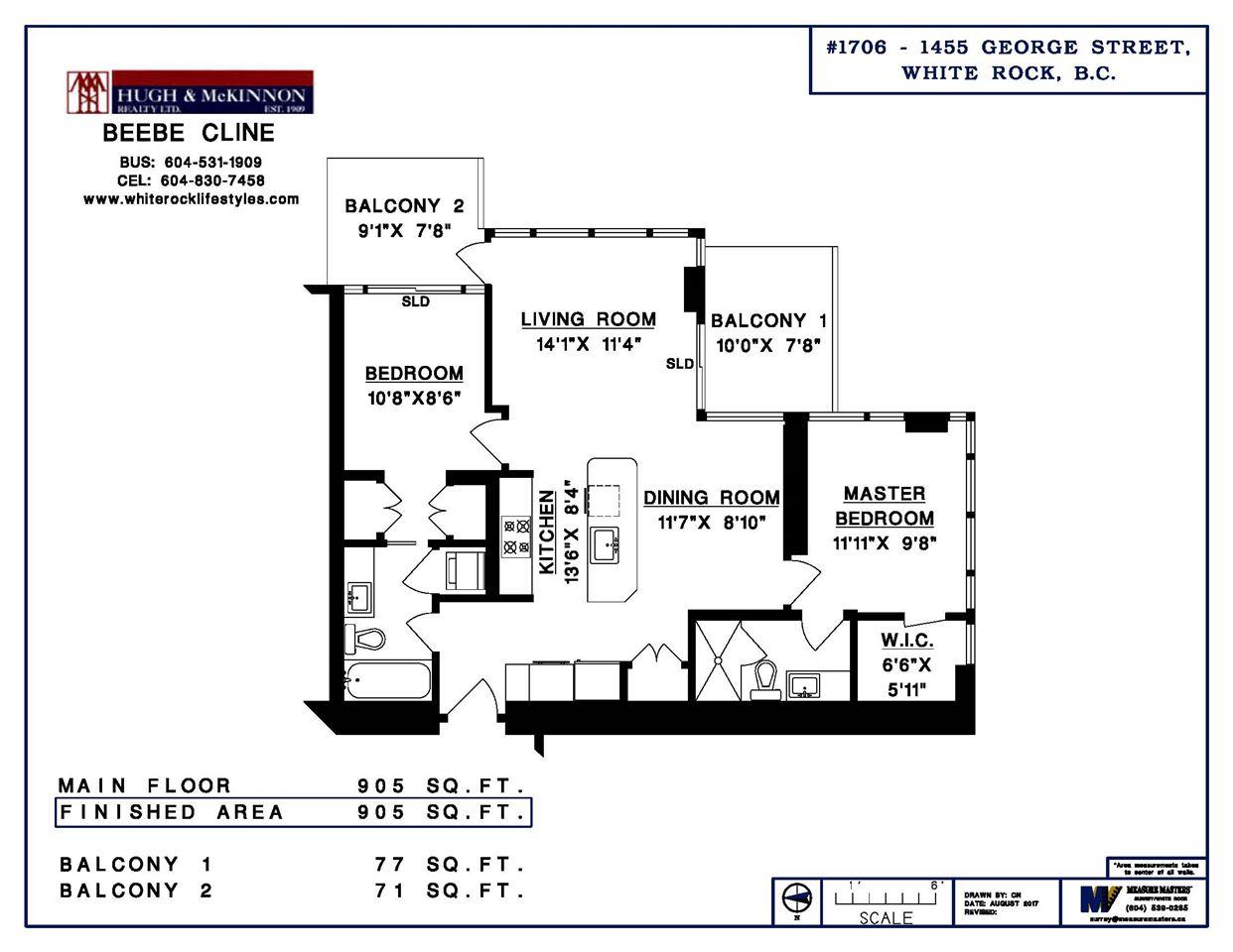 Condo Apartment at 1706 1455 GEORGE STREET, Unit 1706, South Surrey White Rock, British Columbia. Image 5