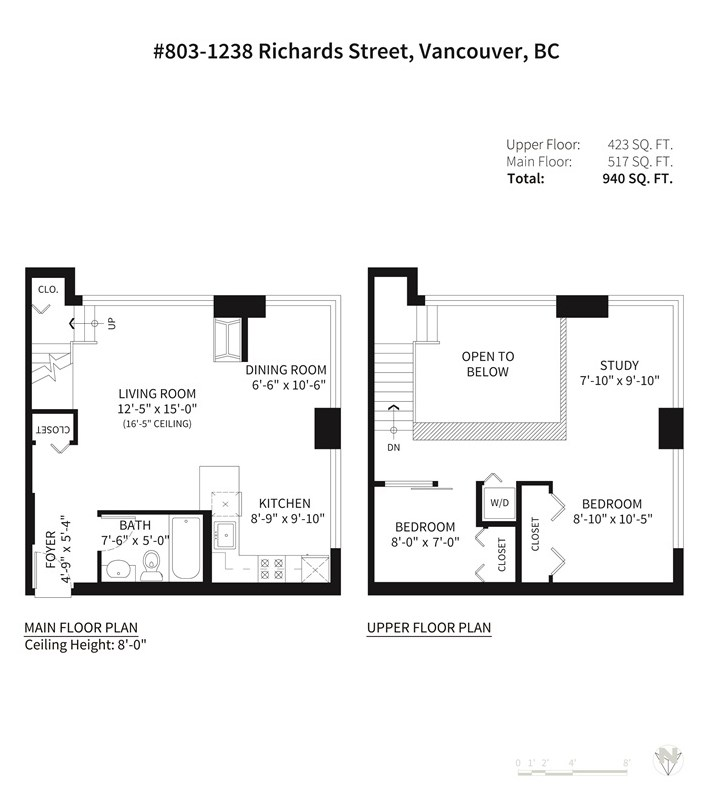 Condo Apartment at 803 1238 RICHARDS STREET, Unit 803, Vancouver West, British Columbia. Image 19