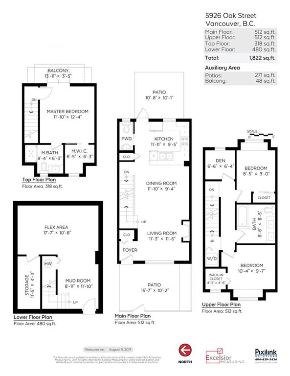 Townhouse at 5926 OAK STREET, Vancouver West, British Columbia. Image 20
