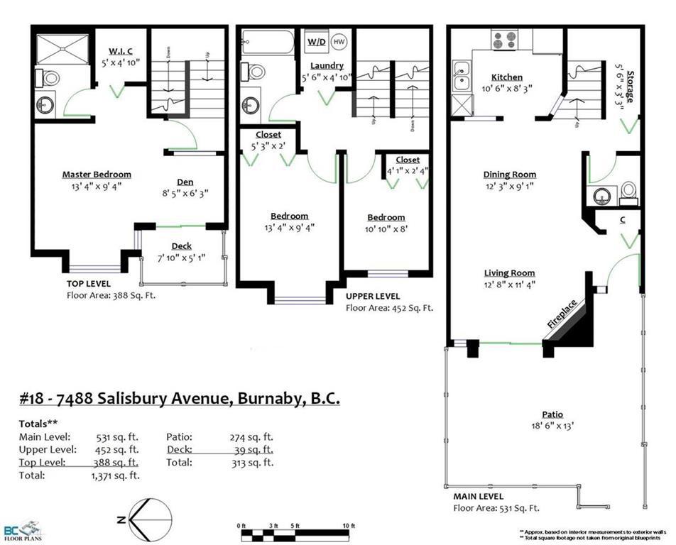 Townhouse at 18 7488 SALISBURY AVENUE, Unit 18, Burnaby South, British Columbia. Image 18