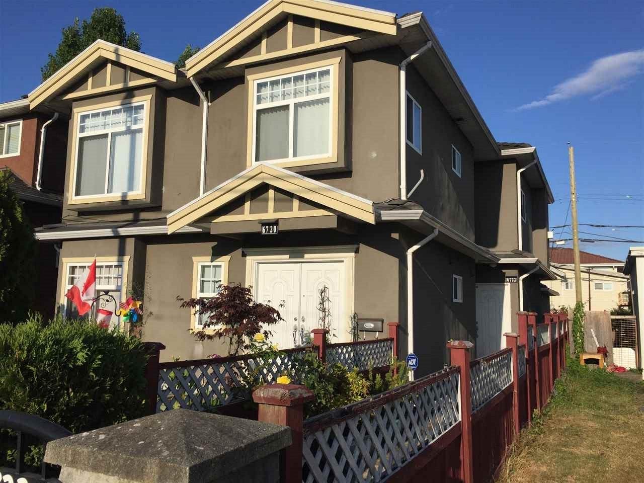 Half-duplex at 6720 FRASER STREET, Vancouver East, British Columbia. Image 1