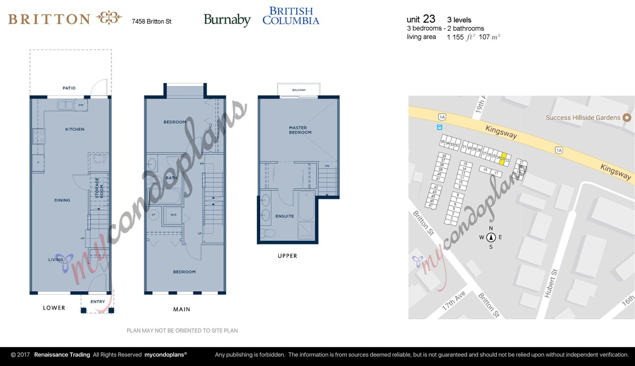 Townhouse at 23 7458 BRITTON STREET, Unit 23, Burnaby East, British Columbia. Image 2