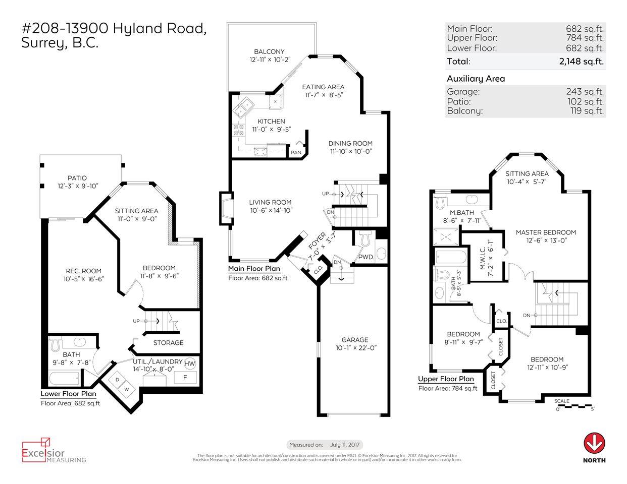 Townhouse at 208 13900 HYLAND ROAD, Unit 208, Surrey, British Columbia. Image 19