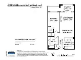 Condo Apartment at 209 3050 DAYANEE SPRINGS BL BOULEVARD, Unit 209, Coquitlam, British Columbia. Image 14