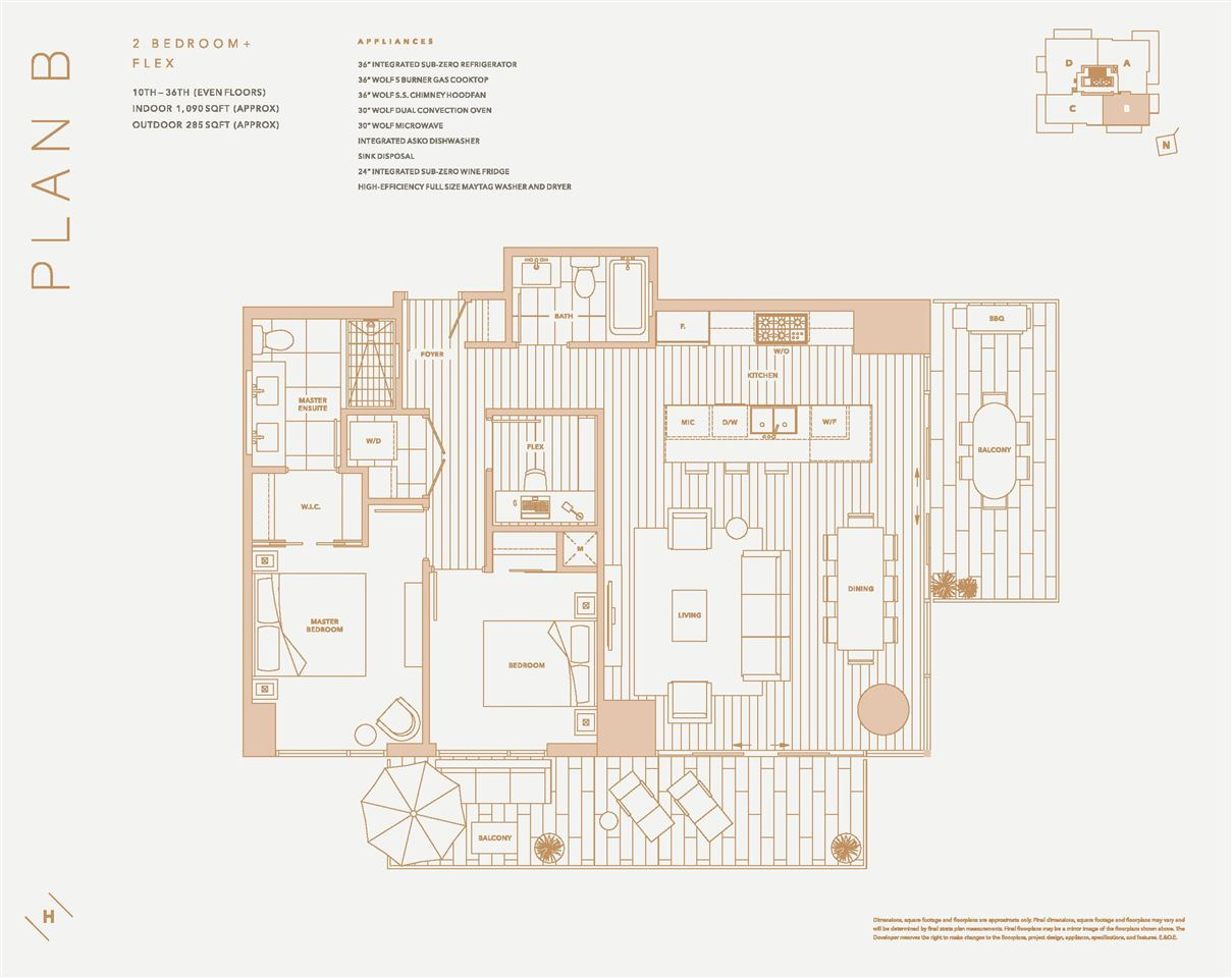 Condo Apartment at 3502 1335 HOWE STREET, Unit 3502, Vancouver West, British Columbia. Image 10