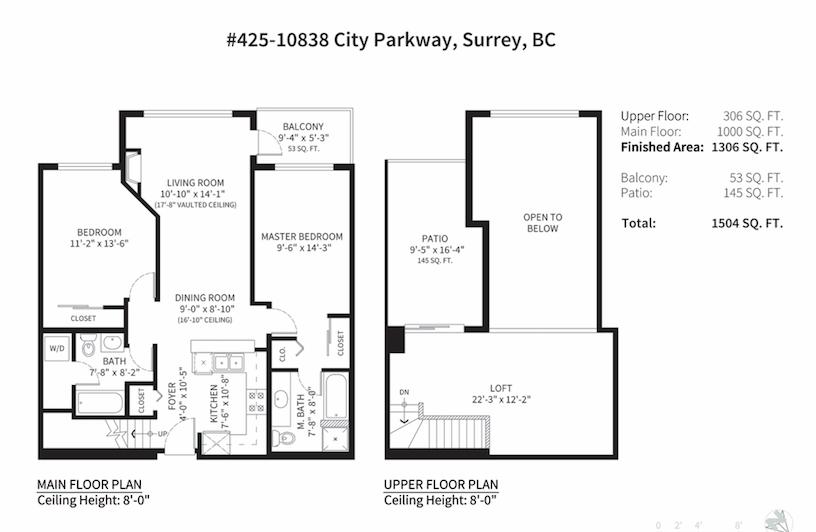 Condo Apartment at 425 10838 CITY PARKWAY, Unit 425, North Surrey, British Columbia. Image 20