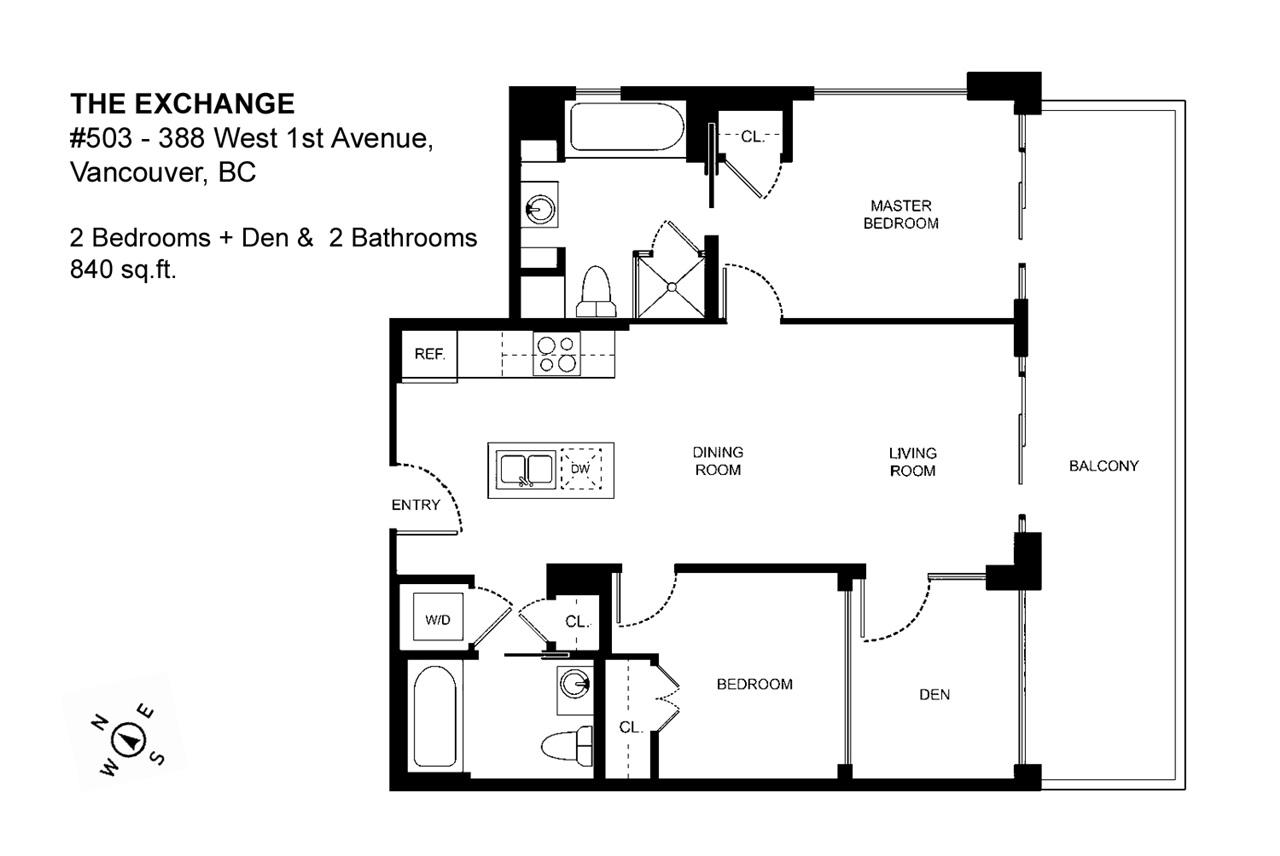 Condo Apartment at 503 388 W 1ST AVENUE, Unit 503, Vancouver West, British Columbia. Image 4