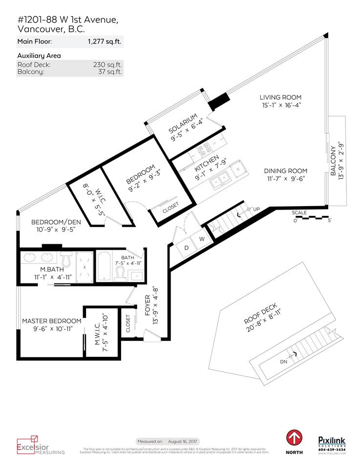 Condo Apartment at 1201 88 W 1ST AVENUE, Unit 1201, Vancouver West, British Columbia. Image 20