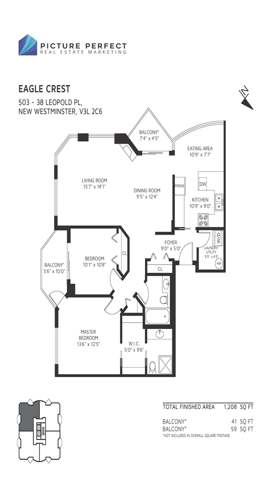 Condo Apartment at 503 38 LEOPOLD PLACE, Unit 503, New Westminster, British Columbia. Image 3