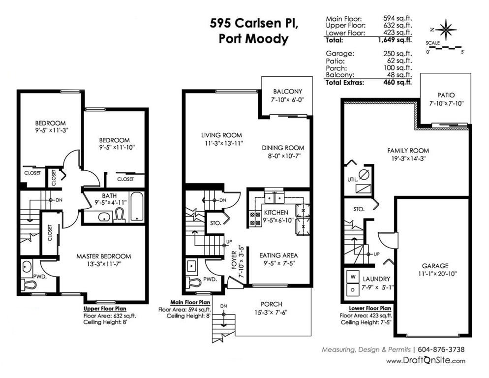 Townhouse at 595 CARLSEN PLACE, Port Moody, British Columbia. Image 20