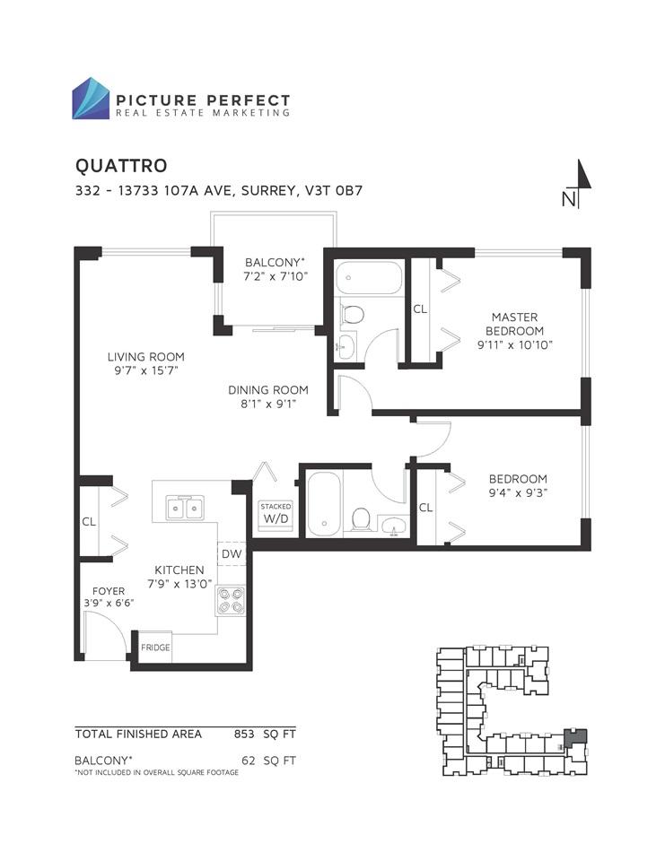 Condo Apartment at 332 13733 107A AVENUE, Unit 332, North Surrey, British Columbia. Image 2