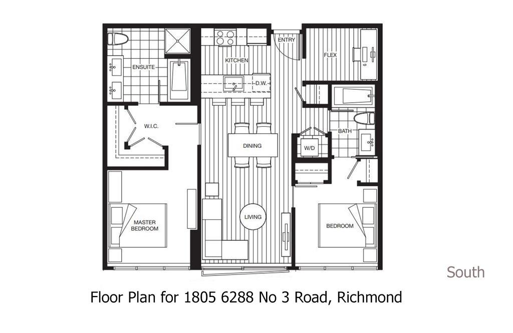 Condo Apartment at 1805 6288 NO. 3 ROAD, Unit 1805, Richmond, British Columbia. Image 3