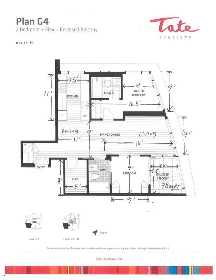 Condo Apartment at 2806 1283 HOWE STREET, Unit 2806, Vancouver West, British Columbia. Image 10