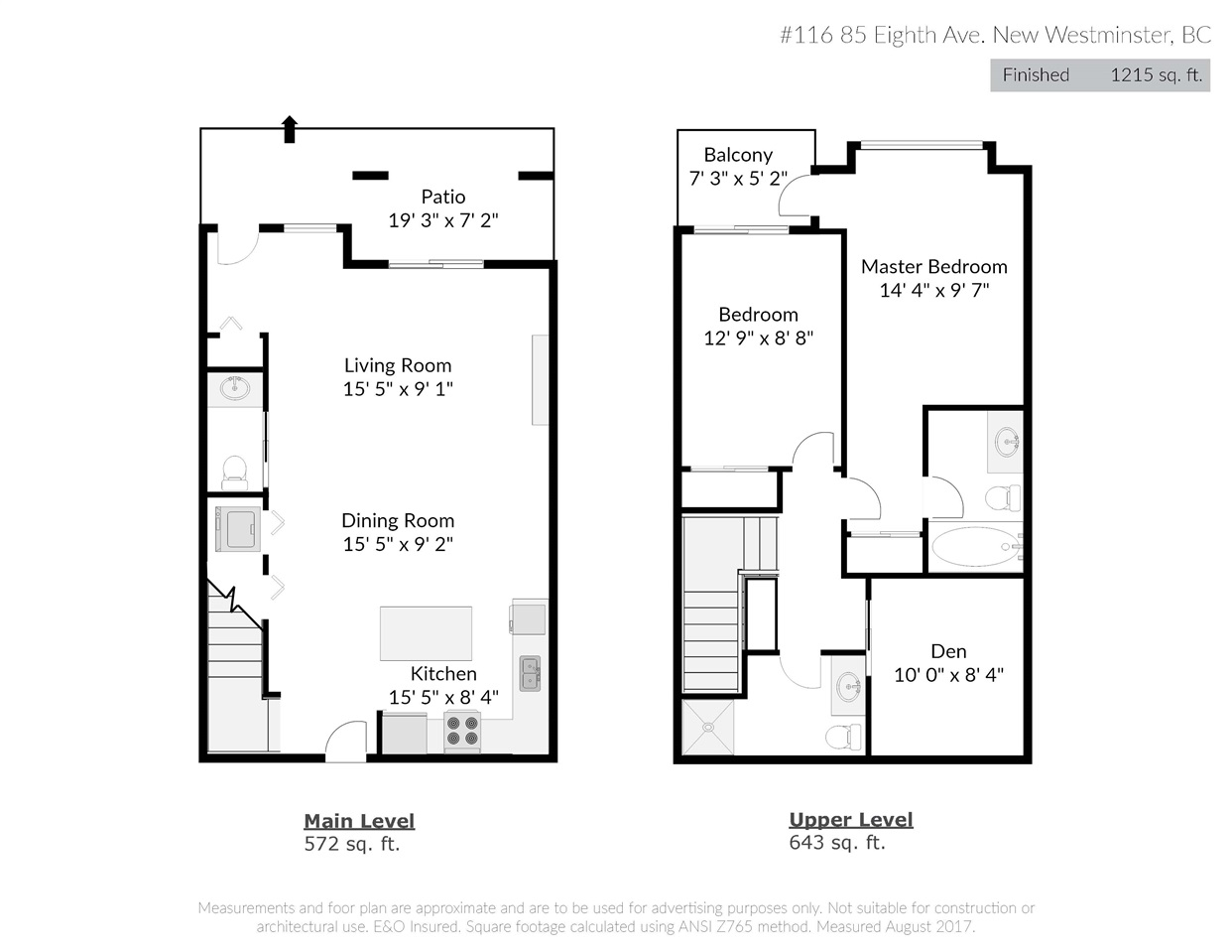 Townhouse at 116 85 EIGHTH AVENUE, Unit 116, New Westminster, British Columbia. Image 20