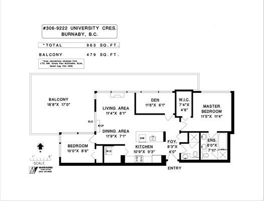 Condo Apartment at 306 9222 UNIVERSITY CRESCENT, Unit 306, Burnaby North, British Columbia. Image 14