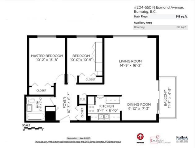 Condo Apartment at 204 550 N ESMOND AVENUE, Unit 204, Burnaby North, British Columbia. Image 12