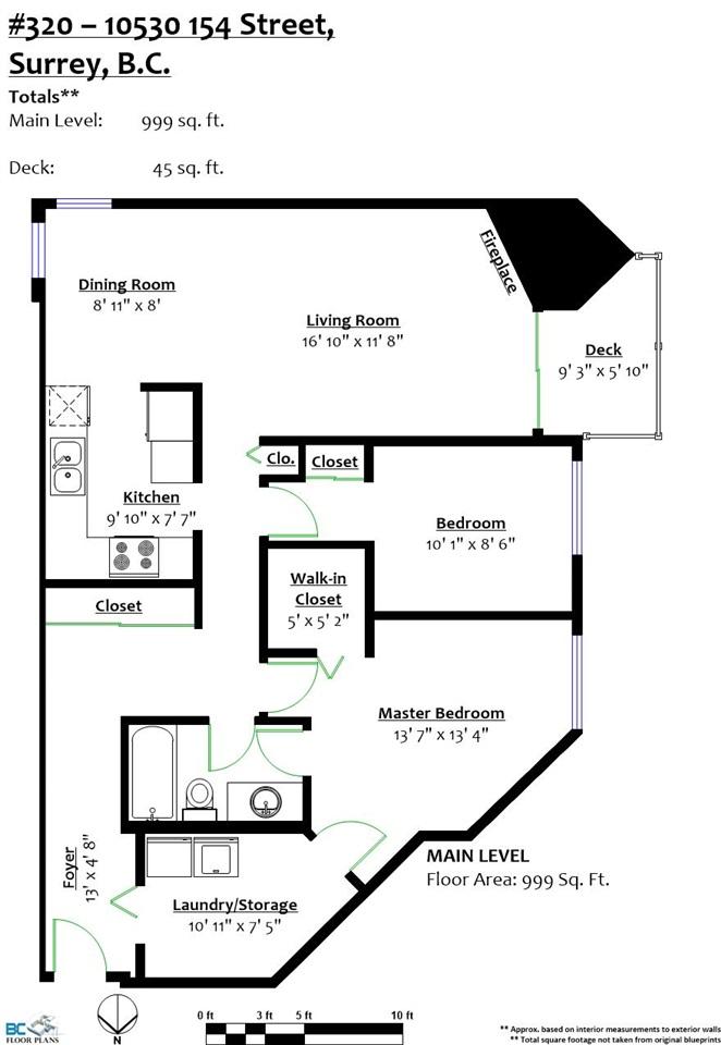 Condo Apartment at 320 10530 154 STREET, Unit 320, North Surrey, British Columbia. Image 15
