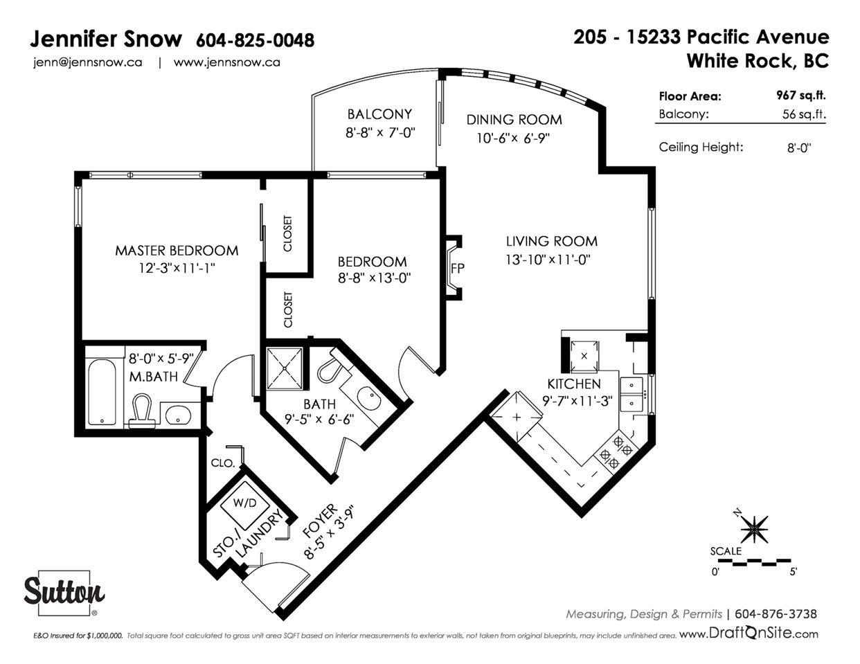 Condo Apartment at 205 15233 PACIFIC AVENUE, Unit 205, South Surrey White Rock, British Columbia. Image 20